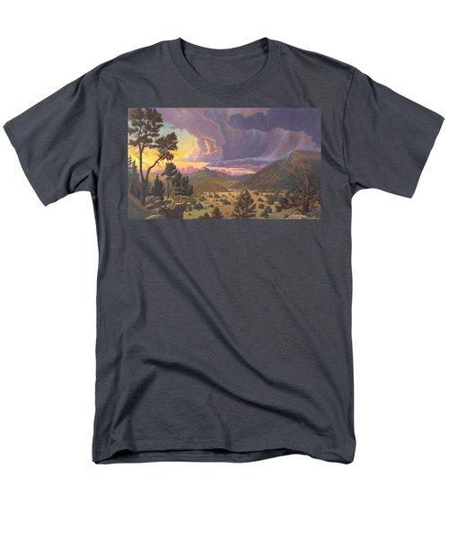 Santa Fe Baldy Men's T-Shirt  (Regular Fit) by Art James West