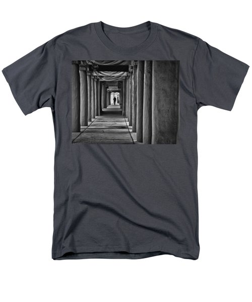 Men's T-Shirt  (Regular Fit) featuring the photograph Santa Fe New Mexico Walkway by Ron White