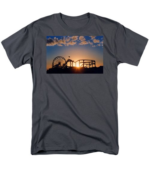 Santa Monica Pier Men's T-Shirt  (Regular Fit) by Art Block Collections