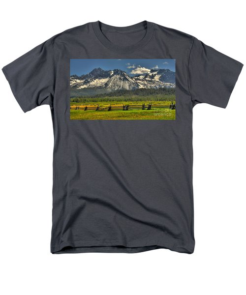 Men's T-Shirt  (Regular Fit) featuring the photograph Sawtooth Mountains by Sam Rosen