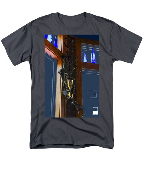 Men's T-Shirt  (Regular Fit) featuring the photograph Sax At The Full Moon Cafe by Greg Reed