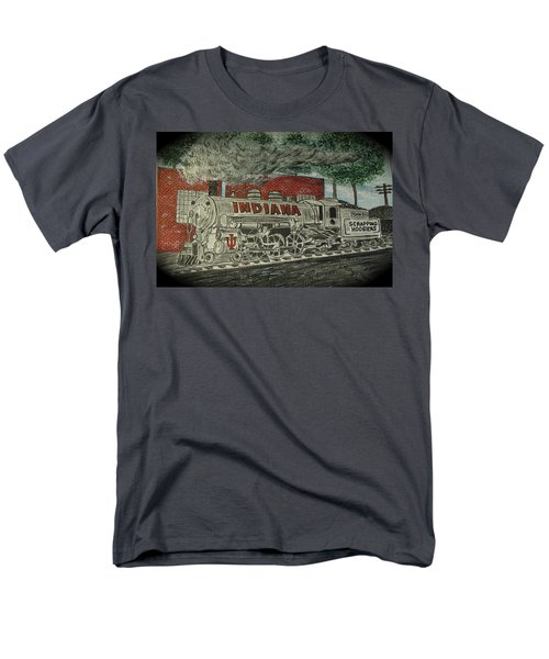 Scrapping Hoosiers Indiana Monon Train Men's T-Shirt  (Regular Fit) by Kathy Marrs Chandler