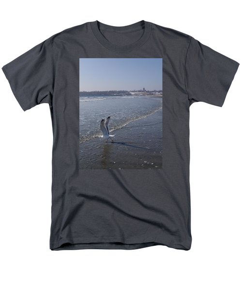 Men's T-Shirt  (Regular Fit) featuring the photograph Seagull 1 by Robert Nickologianis