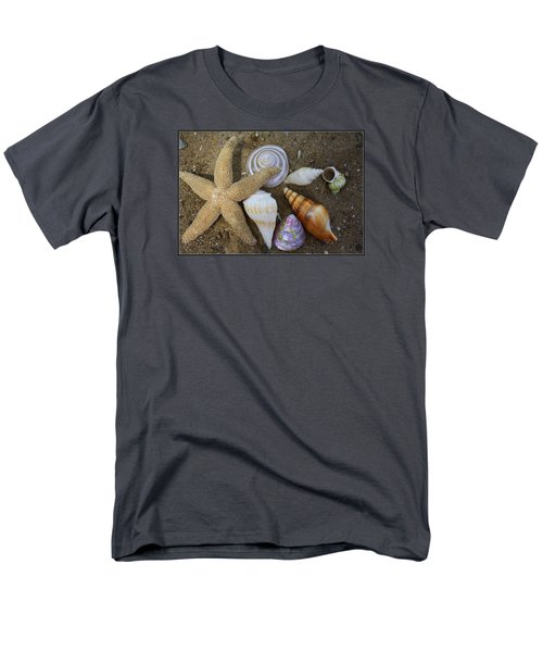 Seashells And Star Fish Men's T-Shirt  (Regular Fit) by Dora Sofia Caputo Photographic Art and Design