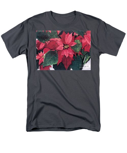 Men's T-Shirt  (Regular Fit) featuring the painting Seasonal Scarlet 2 by Barbara Jewell