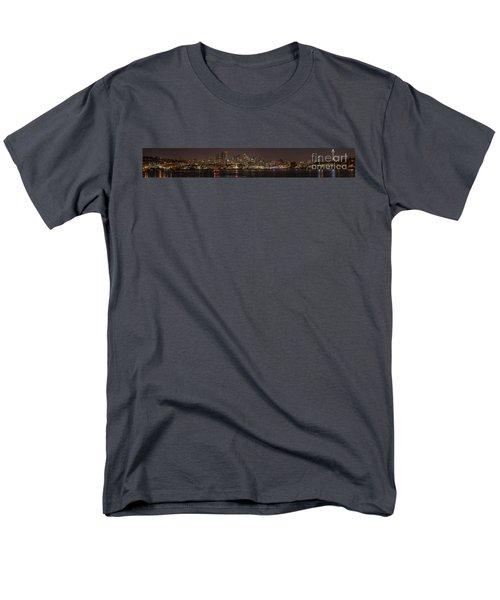 Seattle Lake Union Winter Reflection Men's T-Shirt  (Regular Fit) by Mike Reid