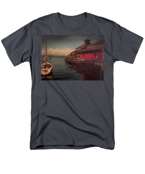 Seattle Waterfront Men's T-Shirt  (Regular Fit) by Thu Nguyen