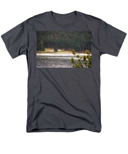 Men's T-Shirt  (Regular Fit) featuring the photograph Secluded Cabin by Mary Carol Story