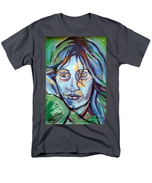 Men's T-Shirt  (Regular Fit) featuring the painting Self Portrait by Helena Wierzbicki