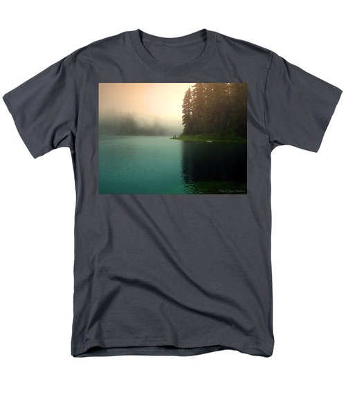 Serenity On Blue Lake Foggy Afternoon Men's T-Shirt  (Regular Fit) by Joyce Dickens