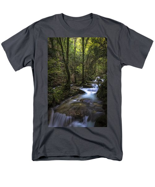 Men's T-Shirt  (Regular Fit) featuring the photograph Sesin Stream Near Caaveiro by Pablo Avanzini