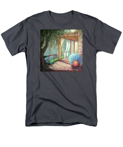 Men's T-Shirt  (Regular Fit) featuring the painting Shade Of The Olive Tree by Michael Rock