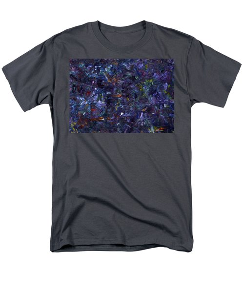 Men's T-Shirt  (Regular Fit) featuring the painting Shadow Blue by James W Johnson