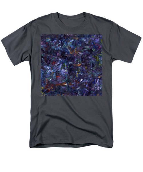 Men's T-Shirt  (Regular Fit) featuring the painting Shadow Blue Square by James W Johnson