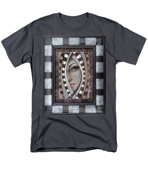 Men's T-Shirt  (Regular Fit) featuring the painting Silver Memories 220414 Framed by Selena Boron