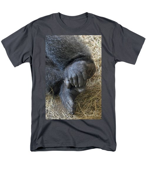 Men's T-Shirt  (Regular Fit) featuring the photograph Silverback Toes by Robert Meanor