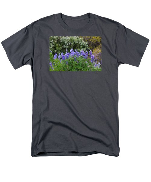 Men's T-Shirt  (Regular Fit) featuring the photograph Silvery Lupine Black Canyon Colorado by Janice Rae Pariza
