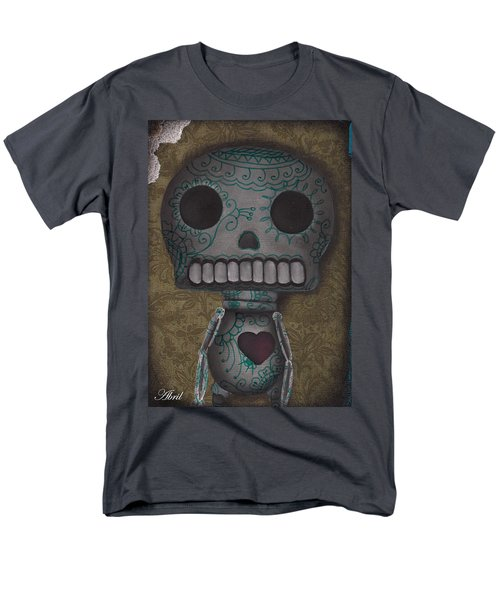 Skelly With A Heart Men's T-Shirt  (Regular Fit) by Abril Andrade Griffith
