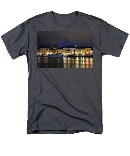 Men's T-Shirt  (Regular Fit) featuring the photograph Skeppsbron At Night by Jeremy Voisey