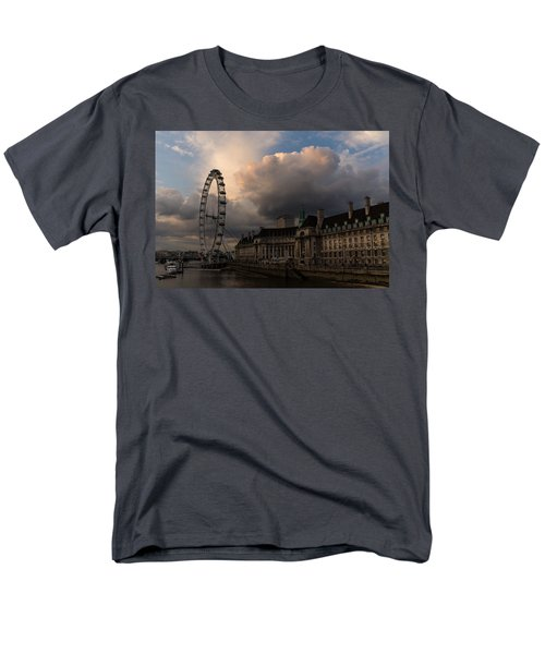 Sky Drama Around The London Eye Men's T-Shirt  (Regular Fit) by Georgia Mizuleva