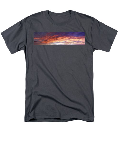 Sky On Fire Men's T-Shirt  (Regular Fit) by Les Cunliffe
