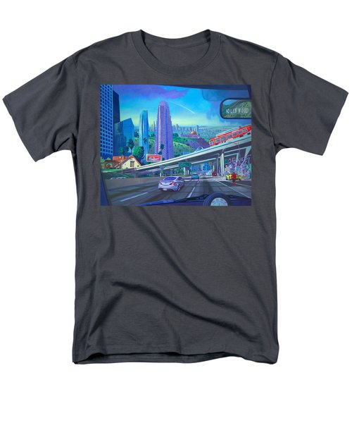 Men's T-Shirt  (Regular Fit) featuring the painting Skyfall Double Vision by Art James West