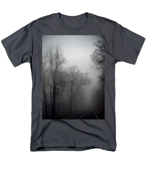 Skyline Drive In Fog Men's T-Shirt  (Regular Fit) by Greg Reed