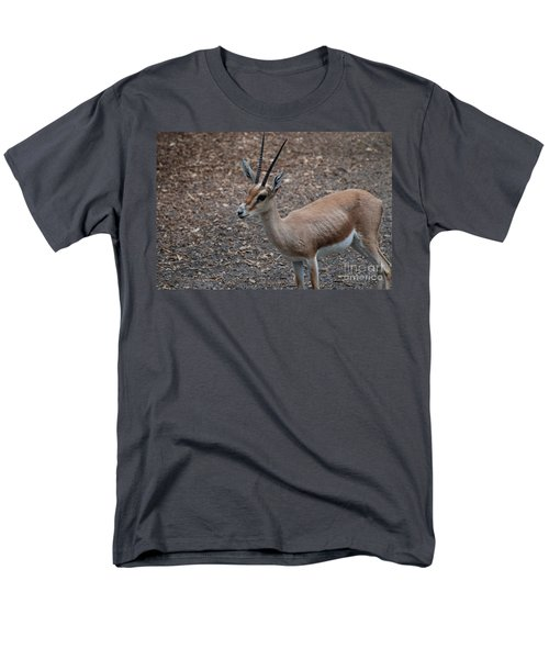 Slender Horned Gazelle Men's T-Shirt  (Regular Fit) by DejaVu Designs