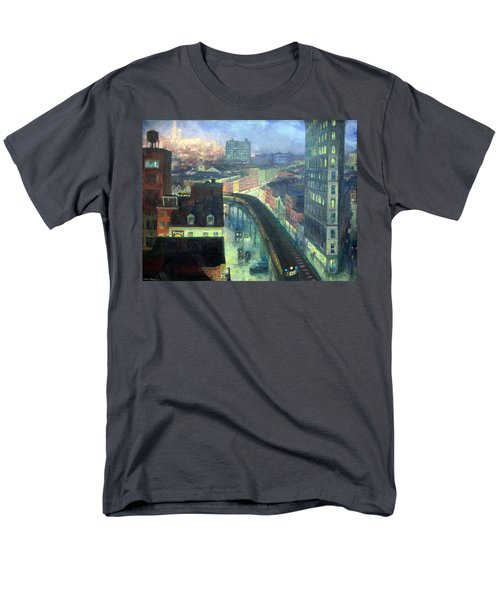 Sloan's The City From Greenwich Village Men's T-Shirt  (Regular Fit) by Cora Wandel