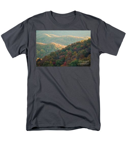 Men's T-Shirt  (Regular Fit) featuring the photograph Smoky Mountain View by Patrick Shupert