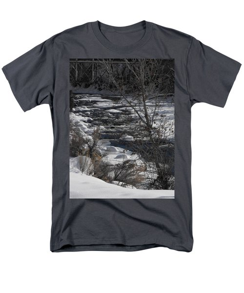 Snow Capped Stream Men's T-Shirt  (Regular Fit) by Adam Cornelison