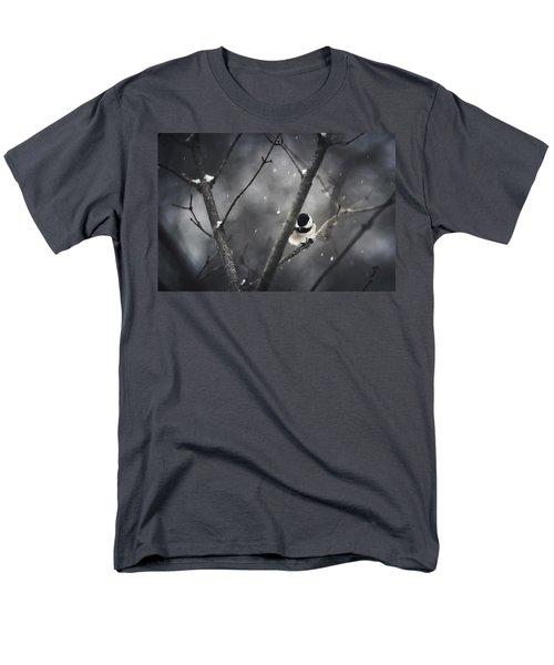 Snowy Chickadee Men's T-Shirt  (Regular Fit)