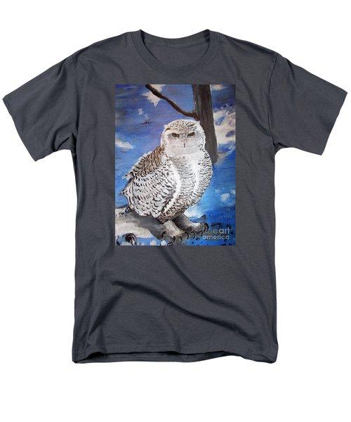 Snowy Owl . Men's T-Shirt  (Regular Fit) by Francine Heykoop