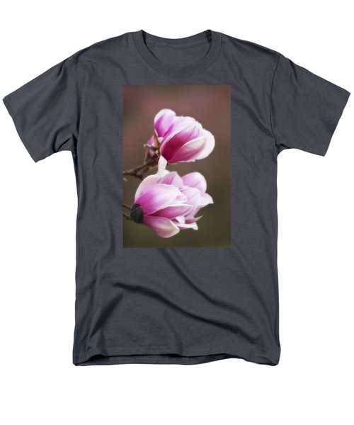 Soft Magnolia Blossoms Men's T-Shirt  (Regular Fit) by Shelly Gunderson