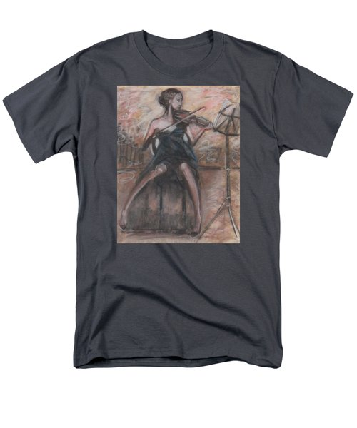 Men's T-Shirt  (Regular Fit) featuring the painting Solo Concerto by Jarmo Korhonen aka Jarko