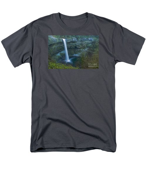 Men's T-Shirt  (Regular Fit) featuring the photograph South Falls Winterscape by Nick  Boren
