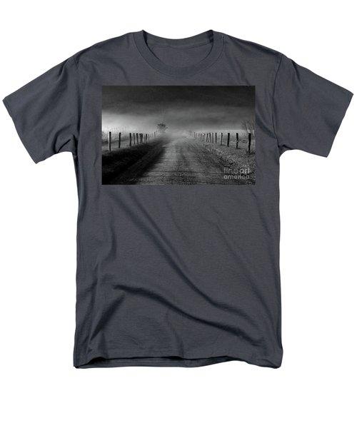 Sparks Lane In Black And White Men's T-Shirt  (Regular Fit)
