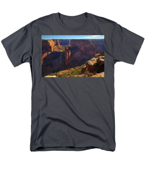 Men's T-Shirt  (Regular Fit) featuring the photograph Spider Rock Sunrise by Alan Vance Ley