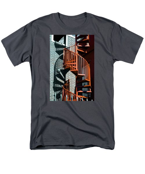 Men's T-Shirt  (Regular Fit) featuring the photograph Spiral Stairs - Color by Darryl Dalton