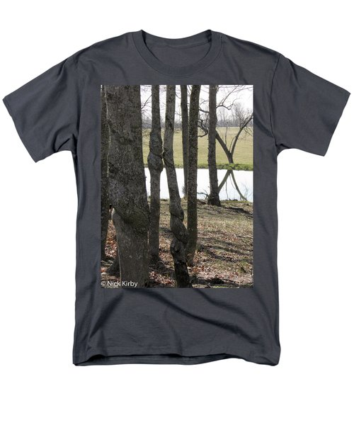 Men's T-Shirt  (Regular Fit) featuring the photograph Spiral Trees by Nick Kirby