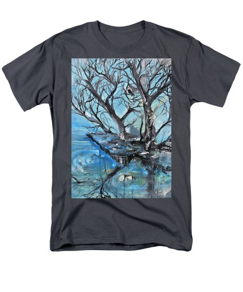 Men's T-Shirt  (Regular Fit) featuring the painting Spooky Mood by Evelina Popilian