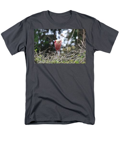 Spoonbill In The Branches Men's T-Shirt  (Regular Fit) by Carol Groenen