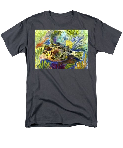 Men's T-Shirt  (Regular Fit) featuring the painting Spotted Trunkfish by Carol Wisniewski