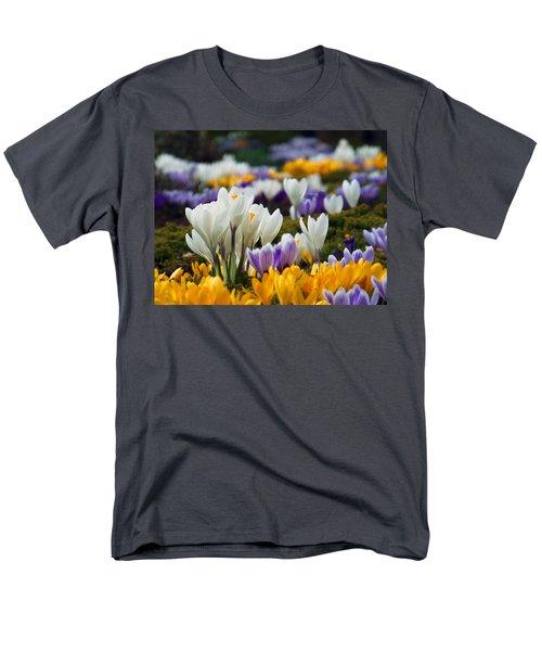 Men's T-Shirt  (Regular Fit) featuring the photograph Spring Crocus by Dianne Cowen