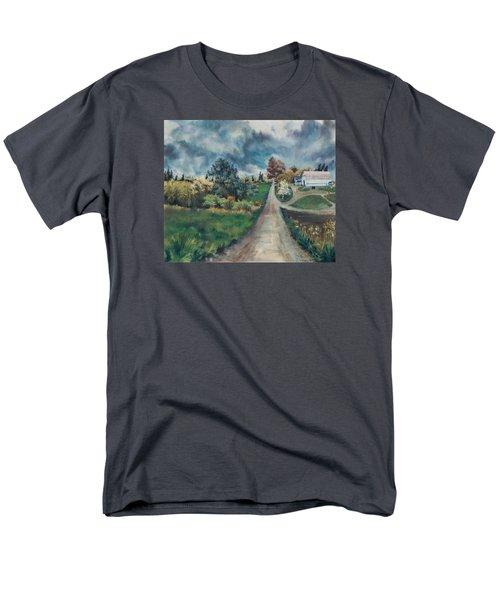 Men's T-Shirt  (Regular Fit) featuring the painting Spring Farm by Joy Nichols