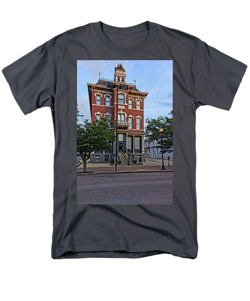 St. Charles Odd Fellows Hall Built In 1878 Dsc00810  Men's T-Shirt  (Regular Fit) by Greg Kluempers