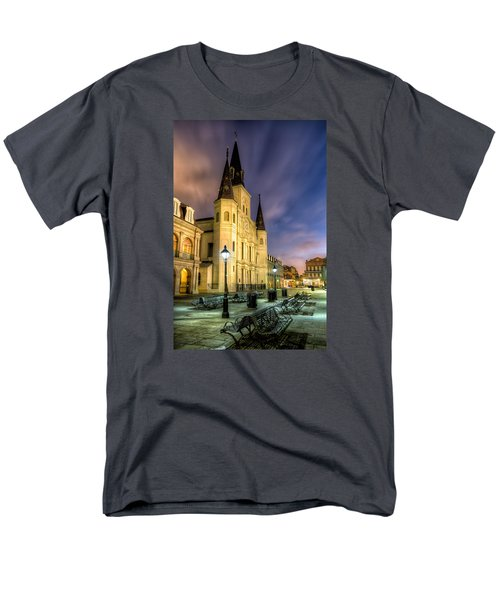 St. Louis Cathedral At Dawn Men's T-Shirt  (Regular Fit) by Tim Stanley