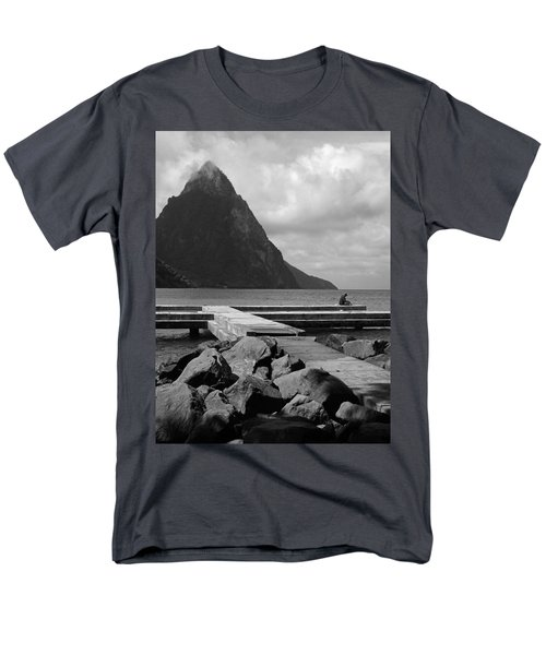 St Lucia Petite Piton 5 Men's T-Shirt  (Regular Fit)