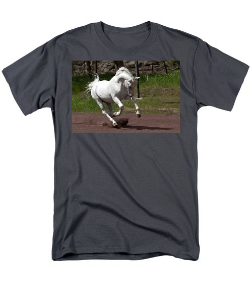 Men's T-Shirt  (Regular Fit) featuring the photograph Stallion D4052 by Wes and Dotty Weber