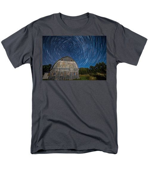 Star Trails Over Barn Men's T-Shirt  (Regular Fit) by Paul Freidlund